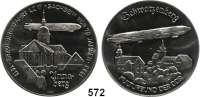 M E D A I L L E N,Luftfahrt - Raumfahrt LuftschiffahrtEisenmedaille 1983 (P. Schock).  70 Jahre Erzgebirgsfahrt des LZ 17