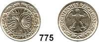 R E I C H S M Ü N Z E N,Weimarer Republik 50 Reichspfennig 1933 J.