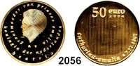 AUSLÄNDISCHE MÜNZEN,E U R O  -  P R Ä G U N G E N Niederlande50 EURO 2004.  (12,1 g fein).  Geburt von Prinzessin Amalia.  Schön 133.  KM 250.  Fb. 359.  Im Originaletui mit Zertifikat.  GOLD