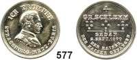 M E D A I L L E N,Varia Silberne Spielmarke o.J. (J. Lorenz).  Whist-Marke.  Mit Gedenktext an die Gefangennahme des französischen Kaisers.  25,5 mm.  4,12 g.