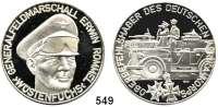 M E D A I L L E N,Weltkrieg Silbermedaille o.J. (1000).  Auf den Oberbefehlshaber des Deutschen Afrika-Korps Generalfeldmarschall Erwin Rommel