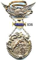 M E D A I L L E N,Sport Silberner Ehrenpreis des Marchfelder Radfahr Vlub 16.8.1896.