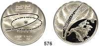 M E D A I L L E N,Astronomie Silbermedaille 1986 (925).  30. Wiederkehr des Halleyschen Kometen.  38,5 mm.  23,7 g.  Im Originalrahmen mit Aufsteller.