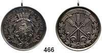 M E D A I L L E N,Städte BerlinSilbermedaille mit Öse 1881/83.  Regatta - Verein.  Rs. Gravur : 17 JUNI 1883.   30,5 mm.  9,44 g.