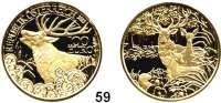 Österreich - Ungarn,Österreich 2. Republik ab 1945100 Euro 2013 (16 g fein).  Österreich und seine Tiere - Der Rothirsch.  Schön 410.  KM 3225.  Mit Zertifikat.  GOLD