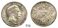 R E I C H S M Ü N Z E N,Preussen, Königreich Wilhelm II. 1888 - 19185 Mark 1898.
