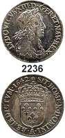 AUSLÄNDISCHE MÜNZEN,Frankreich Ludwig XIII. 1610 - 16431/4 Ecu 1642 A, Paris.  6,62 g.  Duplessy 1347.