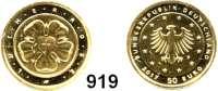 B U N D E S R E P U B L I K, 50 EURO 2017 D.  Reformationsjubiläum - Lutherrose.  GOLD  Im Originaletui.