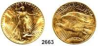 AUSLÄNDISCHE MÜNZEN,U S A 20 Dollars 1924, Philadelphia.  (30,09 g FEIN).  Schön 143.  KM 131.  Fb. 185.  GOLD
