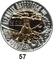 Österreich - Ungarn,Österreich 2. Republik ab 194525 Euro 2011 (Bi-Metall Silber/Niob).  Robotik.  Im Originaletui mit Zertifikat.