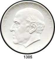 MEDAILLEN AUS PORZELLAN,Moderne Medaillen - Staatliche Porzellanmanufaktur MEISSEN DresdenWeiße Medaille 1969 (101 mm).  Medizinische Akademie