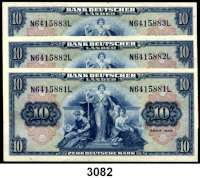 P A P I E R G E L D,BUNDESREPUBLIK DEUTSCHLAND 10 Deutsche Mark 22.8.1949.