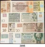 P A P I E R G E L D,D D R Kuponserie zur Währungsreform 1948.  1 DM bis 100 DM 1948.  Kompletter Satz 9 Scheine.  Ros. SBZ-1 bis 9.