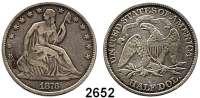 AUSLÄNDISCHE MÜNZEN,U S A Half Dollar 1873.  Schön 74.  KM 99.