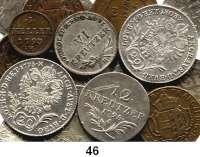 Österreich - Ungarn,Habsburg - Lothringen LOTS       LOTS       LOTS1 Heller 1793 H; 1 Kreuzer 1794 H(2), 1795 H, 1802 H; 3 Kreuzer 1835 A, 1836 A(2), 1838 A, C, 1840 A; 6 Kreuzer 1797 H; 10 Kreuzer 1796 E; 12 Kreuzer 1795 A; 20 Kreuzer 1795 B, 1803 B und 1837 B.  LOT 17 Stück.