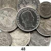 Österreich - Ungarn,Habsburg - Lothringen LOTS       LOTS       LOTS3 Kreuzer 1847 A, 1848 A; 20 Kreuzer 1840 A, 1841 A, C, 1844 C, 1845 A, 1848 A(2).  LOT 9 Stück.