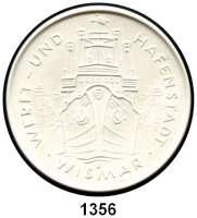 MEDAILLEN AUS PORZELLAN,Moderne Medaillen - Staatliche Porzellanmanufaktur MEISSEN WismarWeiße Medaille 1963 (101 mm).  100 Jahre Heimatmuseum Wismar.  W. 4459.