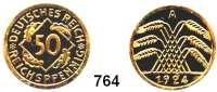 R E I C H S M Ü N Z E N,Weimarer Republik 50 Reichspfennig 1924 A.