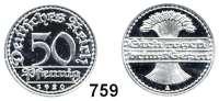 R E I C H S M Ü N Z E N,I.Weltkrieg und Inflation 50 Pfennig 1920 A.