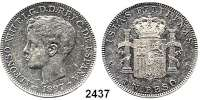 AUSLÄNDISCHE MÜNZEN,Philippinen Alfons XIII. 1886 - 18981 Peso 1897.  Schön 24.  KM 154.