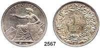 AUSLÄNDISCHE MÜNZEN,Schweiz Eidgenossenschaft5 Franken 1850 A, Paris.  Sitzende Helvetia.  HMZ 2-1197 a.  Schön 17.  KM 11.