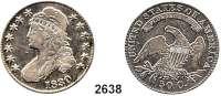 AUSLÄNDISCHE MÜNZEN,U S A 50 Cents 1830.  Schön 35.  KM 37.