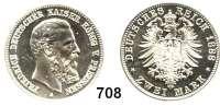 R E I C H S M Ü N Z E N,Preussen, Königreich Friedrich III. 18882 Mark 1888.