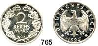 R E I C H S M Ü N Z E N,Weimarer Republik 2 Reichsmark 1925 G.