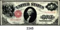 P A P I E R G E L D,AUSLÄNDISCHES  PAPIERGELD U.S.A.1 Dollar 1917.