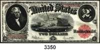P A P I E R G E L D,AUSLÄNDISCHES  PAPIERGELD U.S.A.2 Dollars 1917.