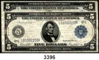 P A P I E R G E L D,AUSLÄNDISCHES  PAPIERGELD U.S.A.5 Dollars 1914.