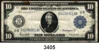 P A P I E R G E L D,AUSLÄNDISCHES  PAPIERGELD U.S.A.10 Dollars 1914.
