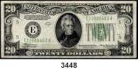 P A P I E R G E L D,AUSLÄNDISCHES  PAPIERGELD U.S.A.20 Dollars 1934 A.