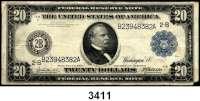 P A P I E R G E L D,AUSLÄNDISCHES  PAPIERGELD U.S.A.20 Dollars 1914.