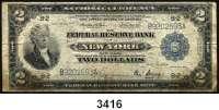 P A P I E R G E L D,AUSLÄNDISCHES  PAPIERGELD U.S.A.2 Dollars 18.5.1914.