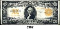 P A P I E R G E L D,AUSLÄNDISCHES  PAPIERGELD U.S.A.20 Dollars 1922.