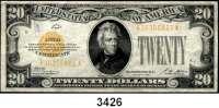 P A P I E R G E L D,AUSLÄNDISCHES  PAPIERGELD U.S.A.20 Dollars 1928.