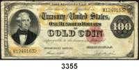 P A P I E R G E L D,AUSLÄNDISCHES  PAPIERGELD U.S.A.100 Dollars 1882.