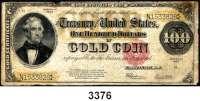 P A P I E R G E L D,AUSLÄNDISCHES  PAPIERGELD U.S.A.100 Dollars 1922.