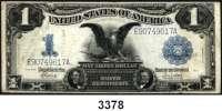 P A P I E R G E L D,AUSLÄNDISCHES  PAPIERGELD U.S.A.1 Dollar 1899.