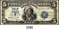 P A P I E R G E L D,AUSLÄNDISCHES  PAPIERGELD U.S.A.5 Dollars 1899.