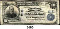P A P I E R G E L D,AUSLÄNDISCHES  PAPIERGELD U.S.A.10 Dollars 14.11.1917.