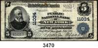 P A P I E R G E L D,AUSLÄNDISCHES  PAPIERGELD U.S.A.5 Dollars 5.7.1917.