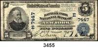 P A P I E R G E L D,AUSLÄNDISCHES  PAPIERGELD U.S.A.5 Dollars 30.9.1904.