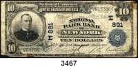 P A P I E R G E L D,AUSLÄNDISCHES  PAPIERGELD U.S.A.10 Dollars 11.3.1905.