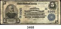 P A P I E R G E L D,AUSLÄNDISCHES  PAPIERGELD U.S.A.5 Dollars 27.6.1902.
