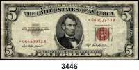 P A P I E R G E L D,AUSLÄNDISCHES  PAPIERGELD U.S.A.5 Dollars 1934 C
