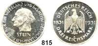 R E I C H S M Ü N Z E N,Weimarer Republik 3 Reichsmark 1931 A.     Stein.