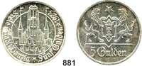 Besetzte Gebiete  -  Kolonien  -  Danzig,Danzig 5 Gulden 1923.