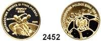 AUSLÄNDISCHE MÜNZEN,Polen Republik seit 1990100 Zlotych 2006 (7,20 g fein).  Fußball WM 2006 - Zweikampf.  Schön 591.  KM 581.  Fb. 214.  GOLD